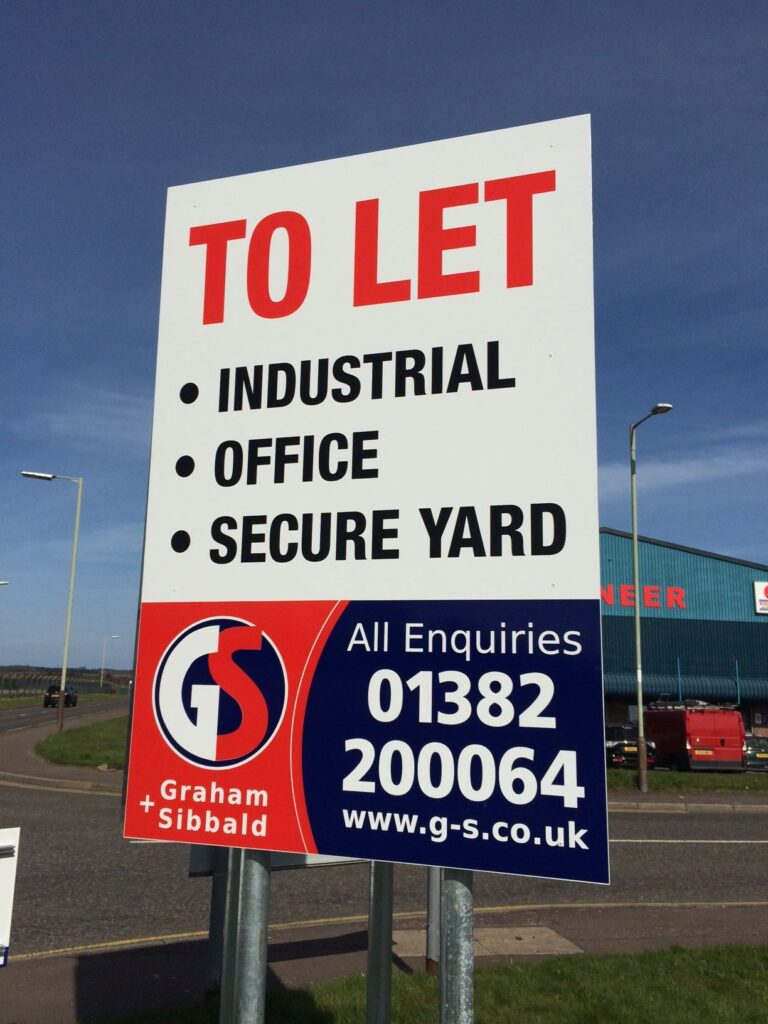 To let sign for Graham and Sibbald