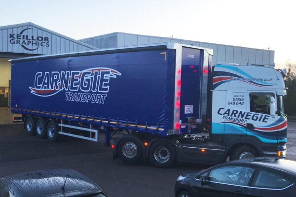 Carnegie transport lorry at Keillors