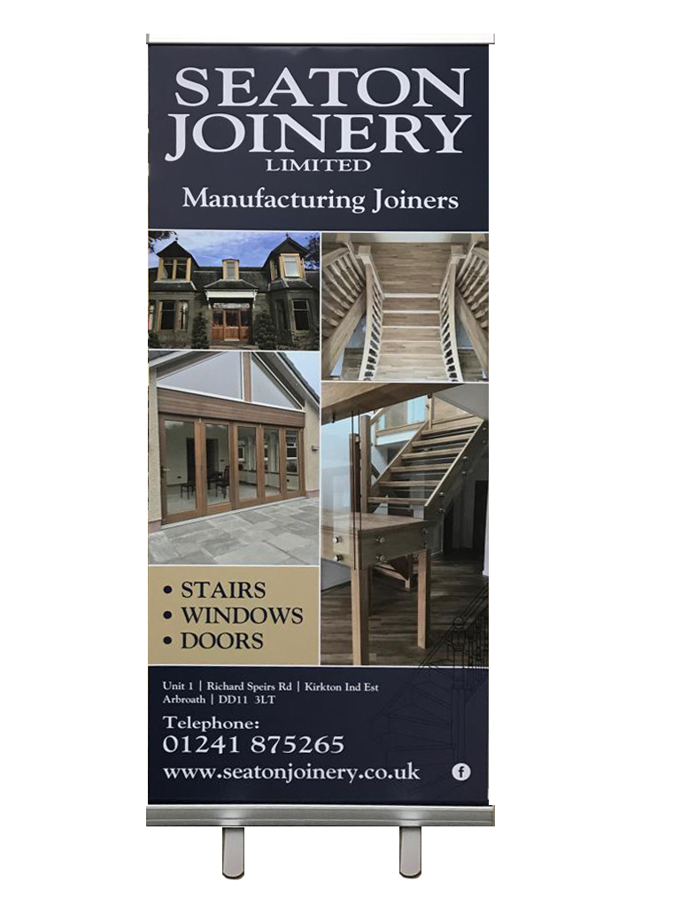 Exhibition board for Seaton Joinery