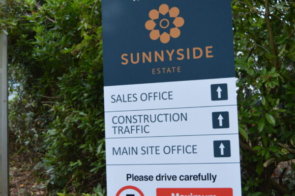 Welcome to Sunnyside signage