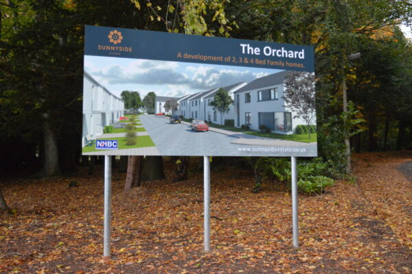 The Orchard signage work