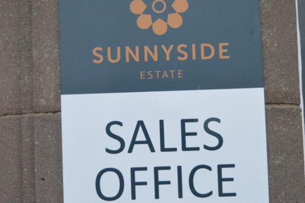 Sales Office Sunnyside signage