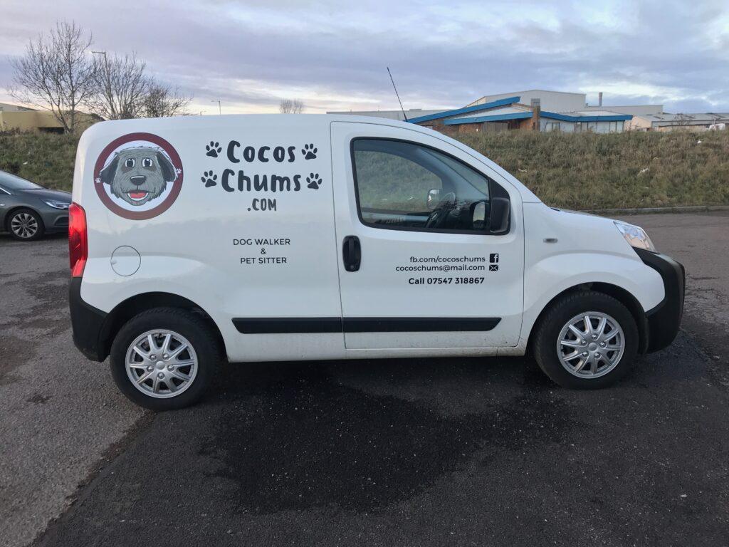 Cocos Chums van livery