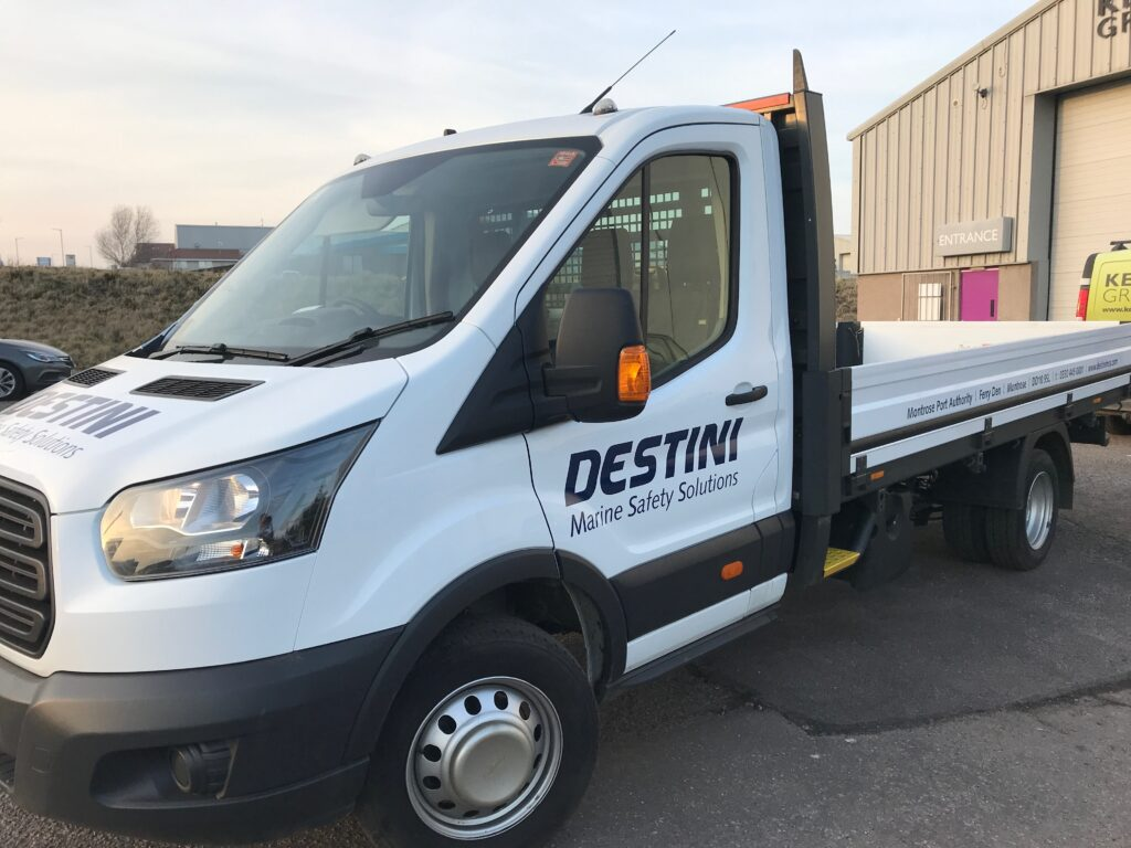 Destini vehicle with finished livery