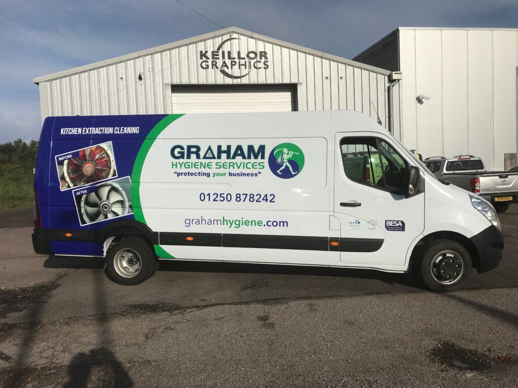 Recent Graham Hygiene Services van livery work