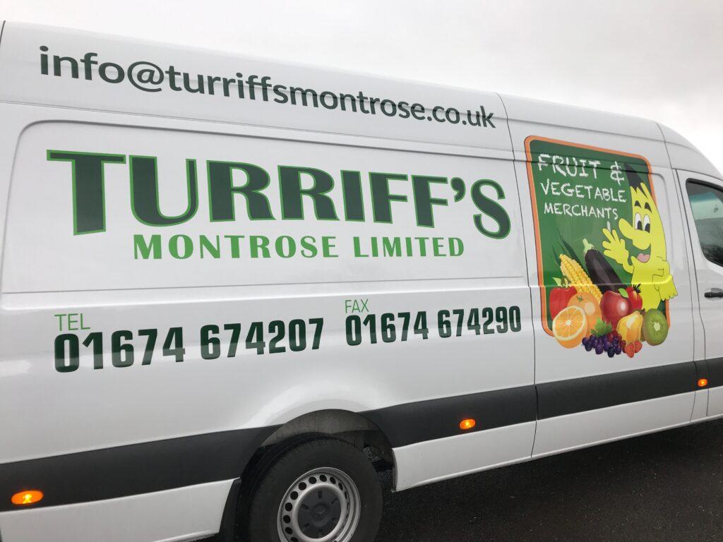 Recent Turriff's van livery work