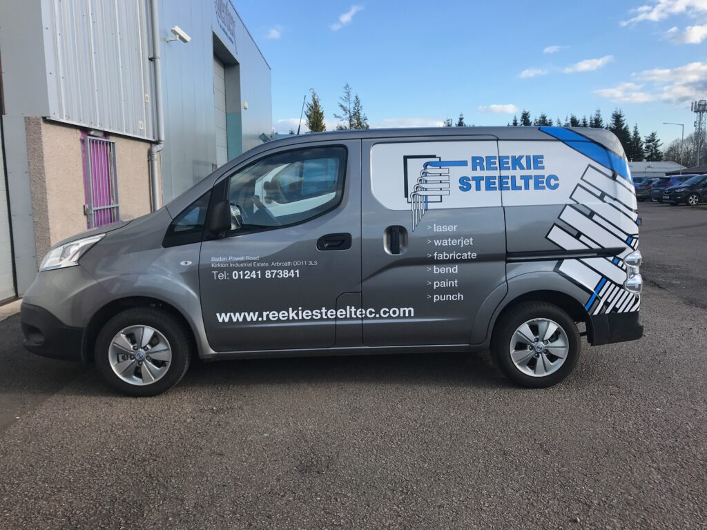 Reekie Steeltec vehicle livery