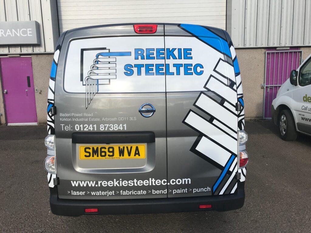 Back of Reekie Steeltec van