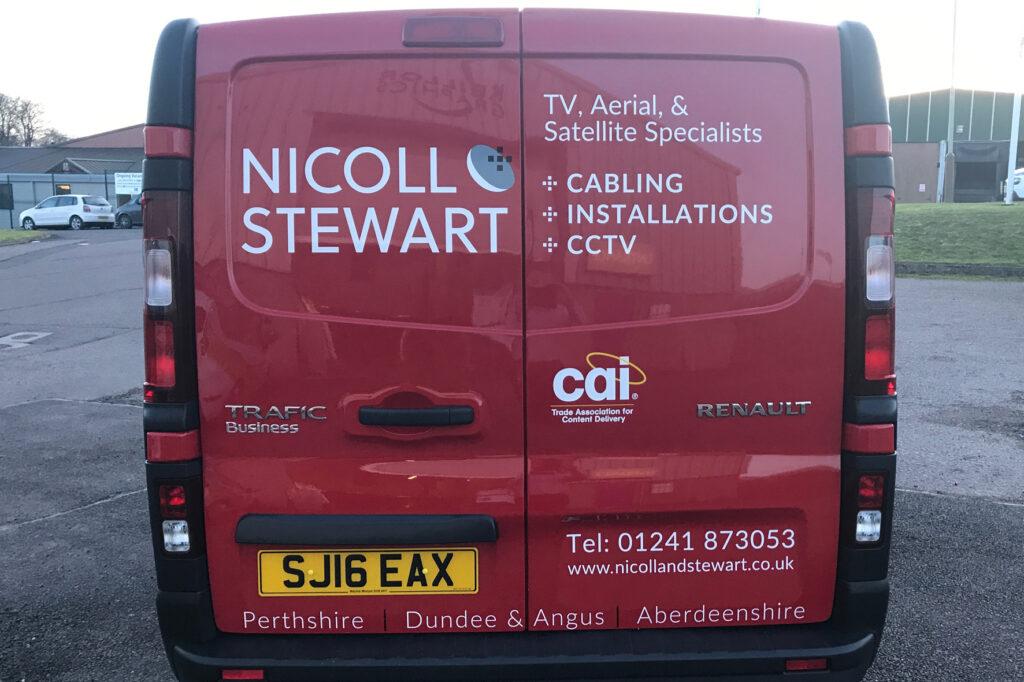 Back of Nicoll Stewart van livery