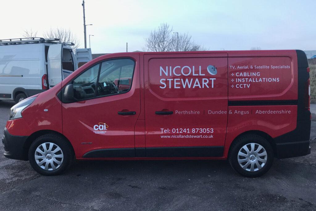 Recent livery work for Nicoll Stewart