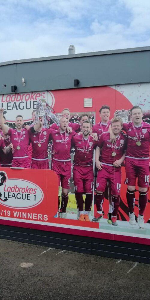 Arbroath FC celebrations banner