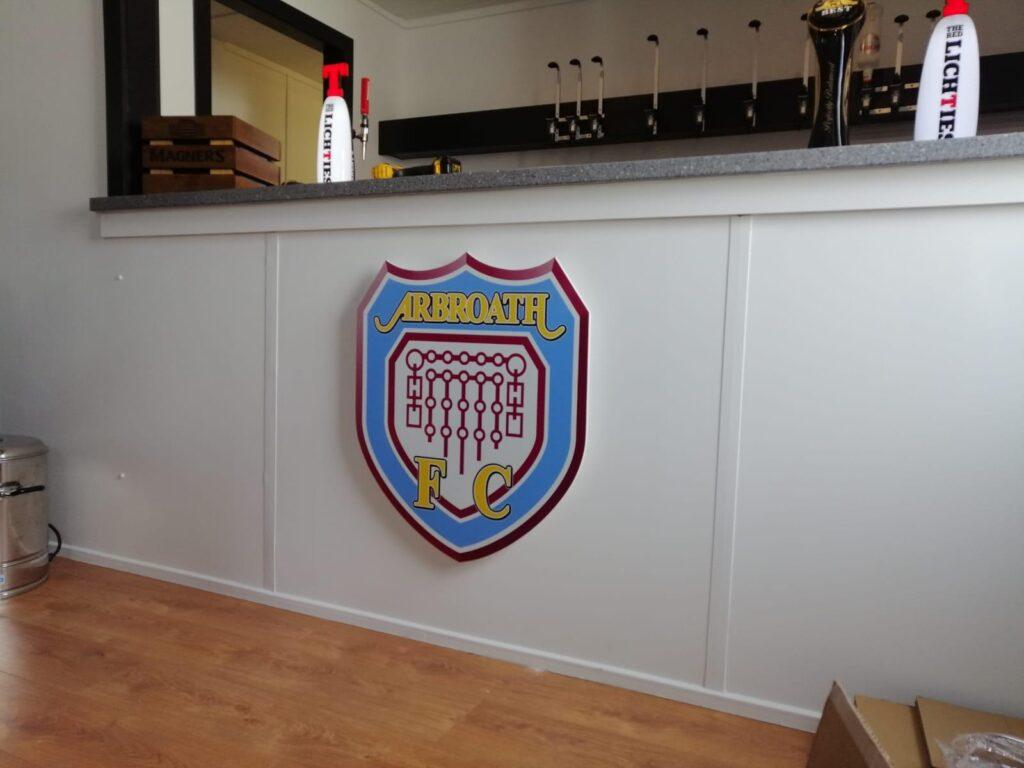 Arbroath FC logo at a bar