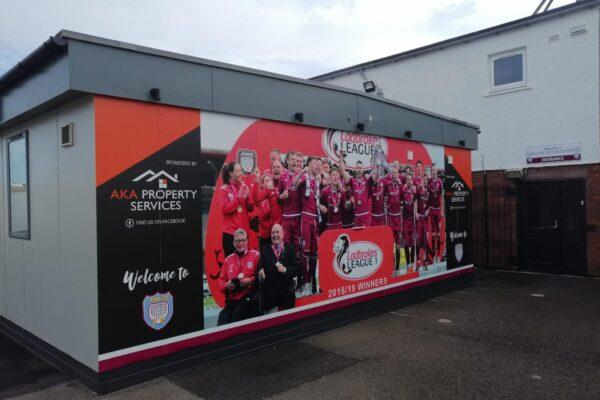 Arbroath FC 2018/19 champions board
