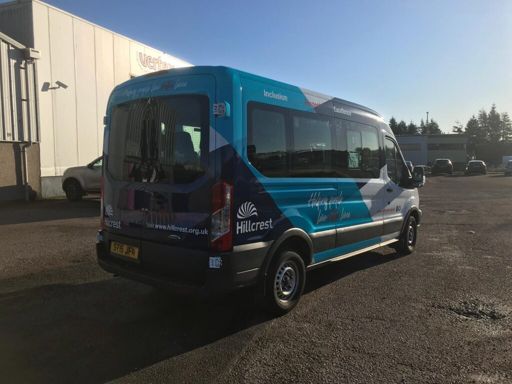 Hillcrest van with livery
