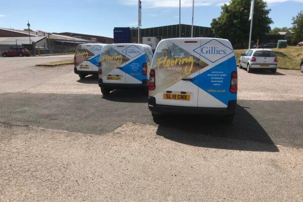recent van livery for gillies
