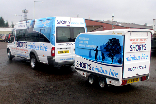 Shorts Minibus Hire Vehicle Livery