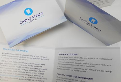 Information cards for Castle Street Dental