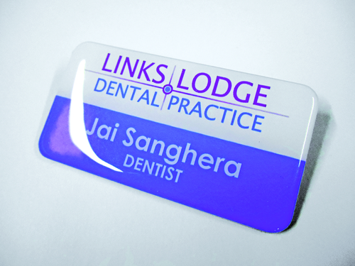 links lodge badge design