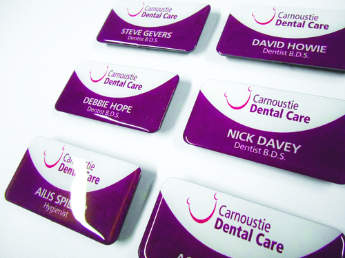 Employee badges for Carnoustie Dental Care