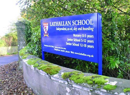 lathallan school signage outside