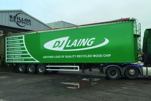 Recent DJ Laing lorry livery work