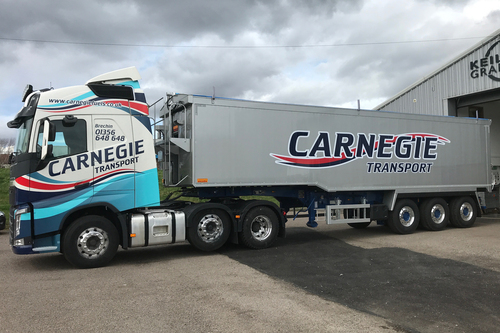 carnegie lorry livery design