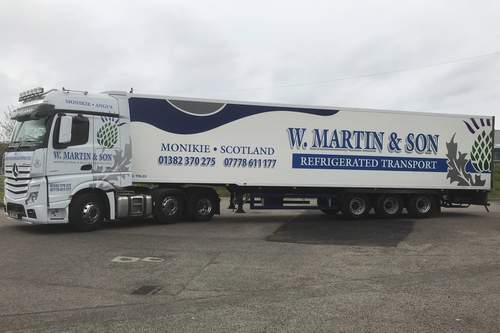 Recent W. Martin and Son lorry livery work