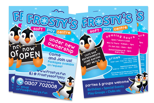 Leaflets for Frostys play centre