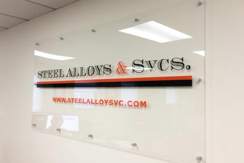 Steel Alloys & SVCS wall graphic
