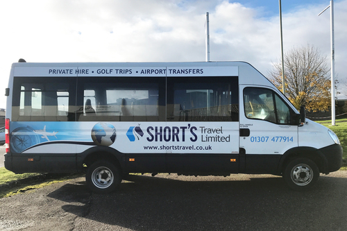 Minibus Livery for Shorts Travel