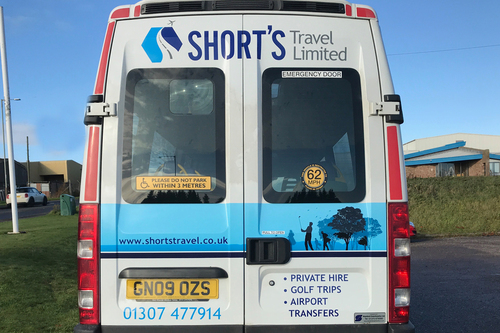 Back of Shorts Travel Minibus