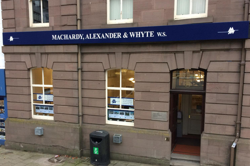 macardy, alexander and whyte signage