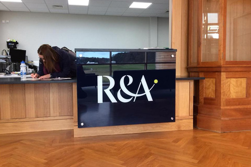 signage for r and a