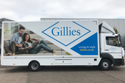 Lorry livery for Gillies by Keillor