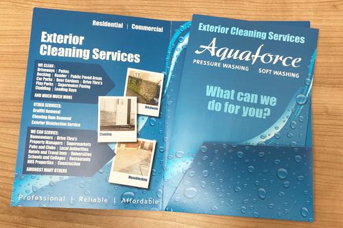 Aquaforce leaflet design work