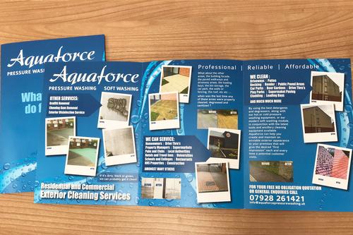 Leaflet design for Aquaforce