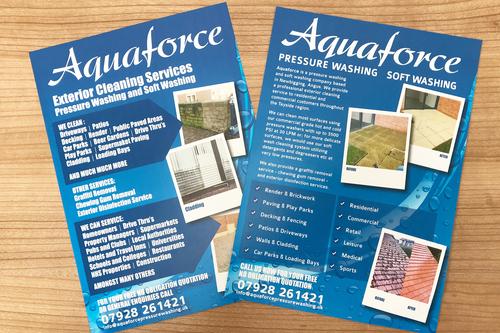Leaflets for Aquaforce