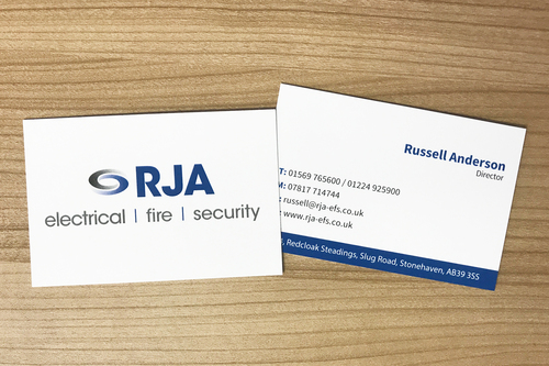 RJA business cards