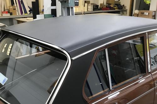 Old brown car roofwork