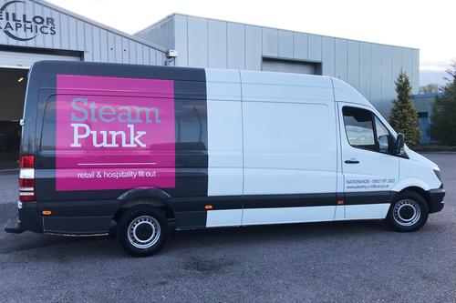 Steam punk van livery work