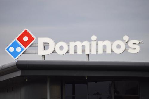 sign on dominos restaurant