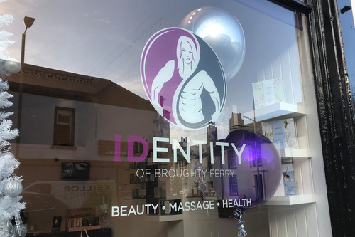 window graphic for identity of broughty ferry