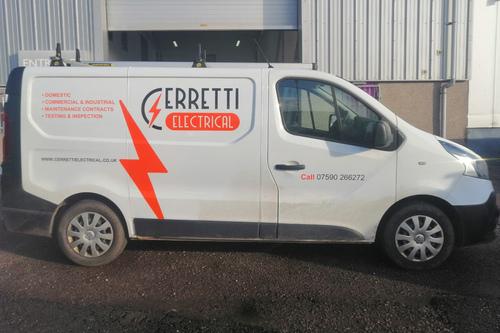 new erretti electrical van livery