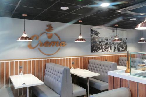 crema restaurant finished interior