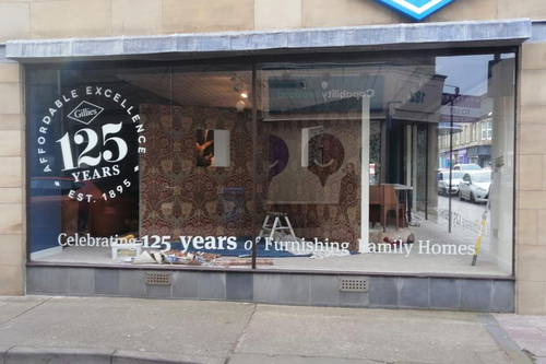 125 years window graphic design