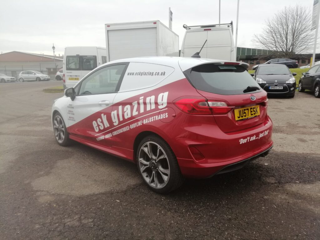 livery work on car for esk glazing