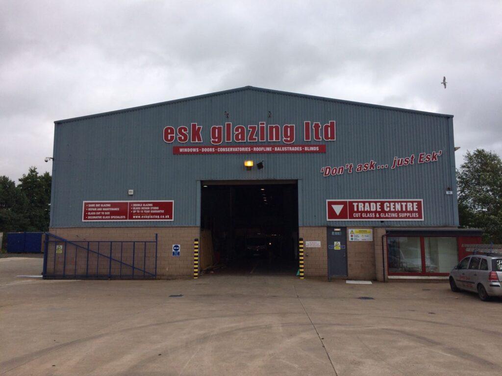 Esk Glazing factory signage