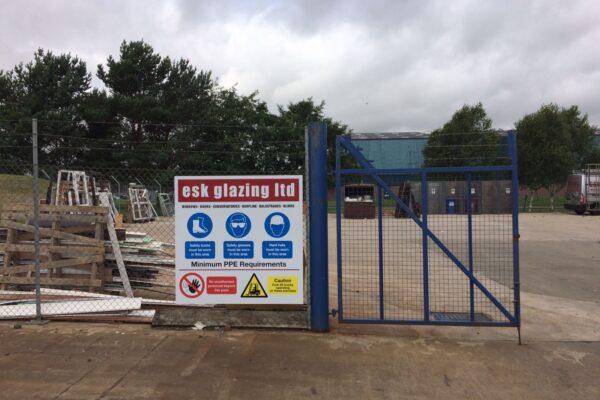 Esk Glazing signage work