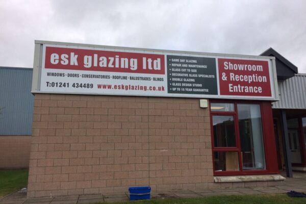 Esk Glazing showroom fascia
