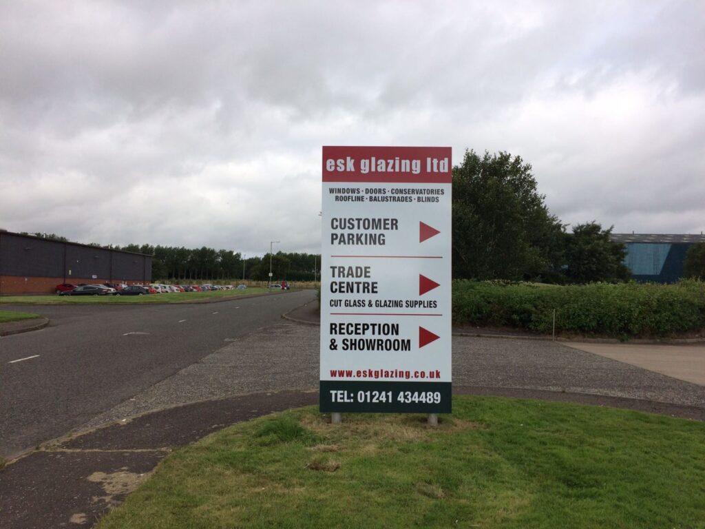 Esk Glazing advertising board